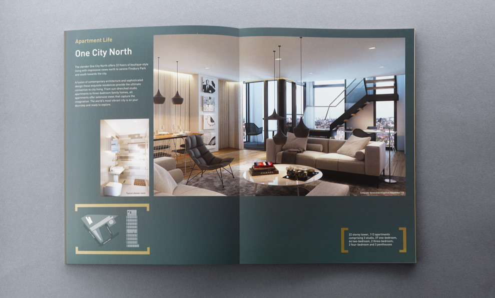 Layflat Property Brochure  City North  Ambrose Press
